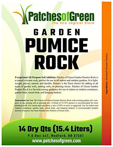 Patches of Green Roche ponce pour bonsaï et plantes grasses de 14 quarts secs