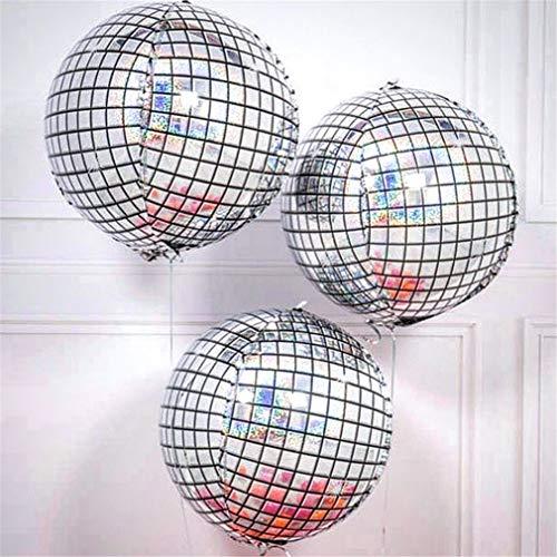 22 inch 4D Disco Ballonnen Gradiënt Kleur Ronde Sphere Gevormde Aluminium folie Ballonnen Verjaardagsfeest Bruiloft Baby Douche Decoratie Achtergrond one size style-9-3pcs