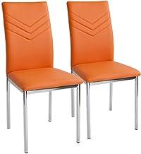 Albatros Verona krzesła do jadalni, zestaw 2-częściowy, pomarańczowy, certyfikat SGS