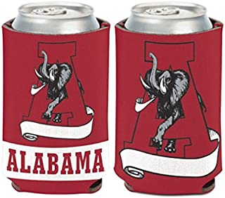 WinCraft NCAA Alabama Crimson Tide Script 1 Pack 12 oz. 2-Sided Can Cooler