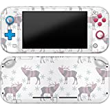 Cavka Vinyl Decal Skin Compatible with Console Switch Lite (2019) Stickers with Design Winter Elk Wrap Protector Wild Cute Fantasy Durable Full Set Pattern Animal Print Snowflake Faceplate Cover
