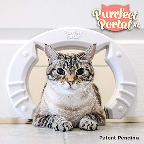 Purrfect Portal XL Pet Cat Door for Interior Doors :: Molded Plastic Kitty
