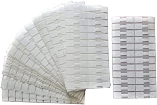 1000 pieces Jewelry Repair, Price and Indentification Tags/Tyvek Self Adhesive Rectangle/Dumbbell/Barbell Jewelry Price Tags (Rectangle - 44 x 12mm, White)
