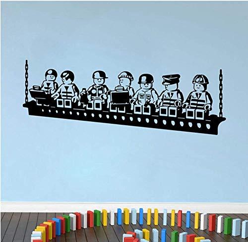 Roboter Lego Spiel Poster Vinyl Wandaufkleber Für Kinderzimmer Dekoration Jungen Zimmer Wandkunst Aufkleber Wandbild Kindergarten Schlafzimmer Decor57X22Cm