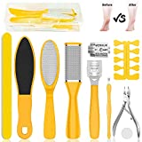 Peakally Professional Pedicure Tool Kit,Callus Remover For Feet.Foot Scrubber Dead Skin and Exfoliator,10Pcs