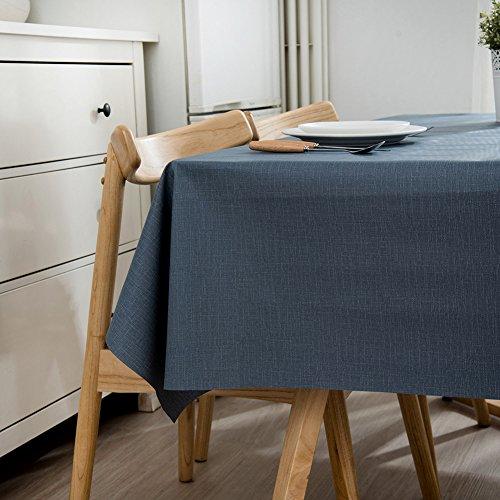 Ommda Nappe de Table Rectangulaire PVC Imperméable pour Picnique 120x120cm Bleu