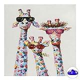 MeloMall 5D kit de pintura de diamante, kit de pintura de diamante DIY jirafa, cuadros de pintura de diamante utilizados en el arte de la decoración de la pared del hogar (30 * 30 cm)
