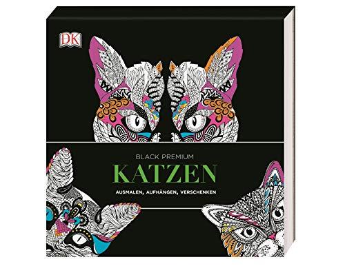 Black Premium. Katzen: Ausmalen, Aufhängen, Verschenken