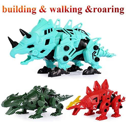 Kohyum Construye y desarma Go Dinosaur Toys, Go T-Rex Building Play Set para niños Robots electrónicos
