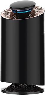KAROPADE 空気清浄機 小型 脱臭 殺菌 花粉 静音 携帯 卓上 省エネ 日本製光触媒素材 PSE認証 適用面積 20畳 フィルター 2個付き アダプター付き ブラック