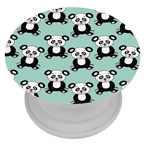 henghenghaha Telefoon Beugel Mini Grips voor Telefoons & Tabletten - Groen Sluggish Panda, 4x4 cm, Groene trage Panda