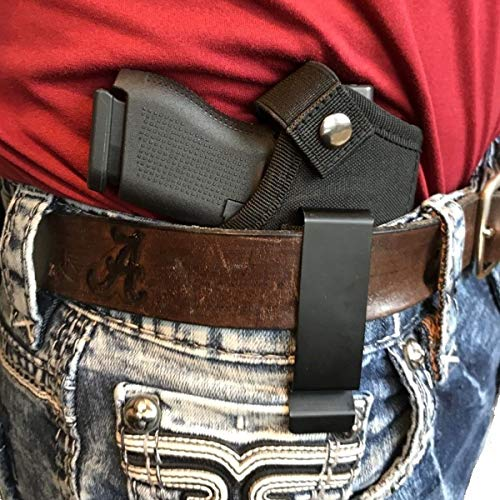 Ourine Universal Gun Holster for IWB OWB Right Left Hand Inside Concealed Carry Fits All Similar Handguns S&W M&P Shield Glock