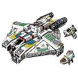 Kit Construcción Fragata Espacial, (4577 Piezas) Fragata Millennium Falcon, Juguetes de Bloques Construcción de Crucero para Star Wars, Compatible con Lego