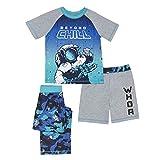 Komar Kids Boys' Big 3 Piece Jersey Pajama Set, Space, Extra Small