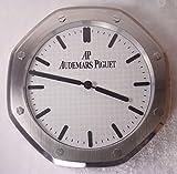 Audemars Piguet Silent Sweep Wall Clock, Silver+White