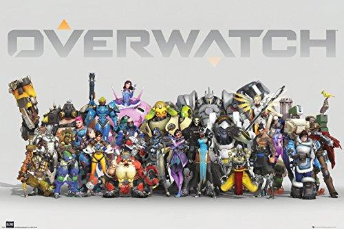 GB eye, Overwatch, Anniversary Line Up, Maxi-Poster 61x91,5cm, Holz, verschieden 65x3,5x3,5 cm