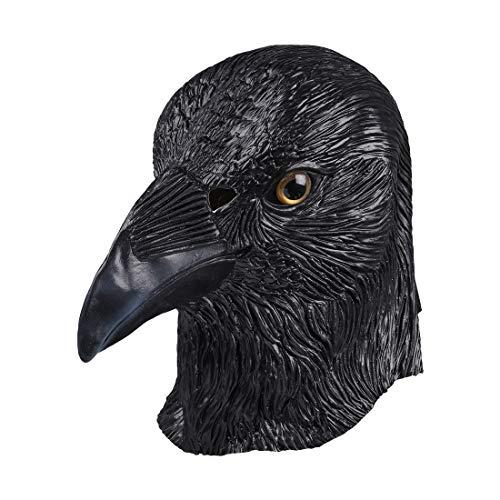 MASCARELLO Mascarero escribe máscaras de Cuervo, látex de águila, águila, Ave, máscara de Animales, Disfraz de Halloween, Disfraz de Fiesta.