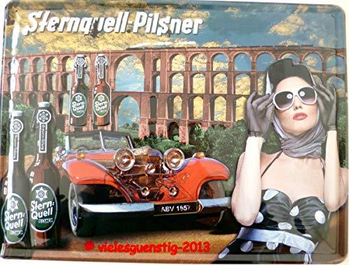 vielesguenstig-2013 Schild Blechschild 30x40cm Sternquell Pilsner Göltzschtalbrücke Bier Brauerei Oldtimer Vintage