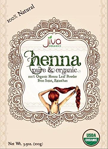 Jiva USDA Organic 100% Pure Henna Powder 100 Gram - Ecocert Certified