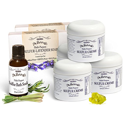 Dr. Berry's Family Sulfur Pack |Super Set| Itch Relief from Mites, Insect Bites, Acne, and Fungal Infections | Fast and Effective with Potent Anti-Inflammatory Ingredients