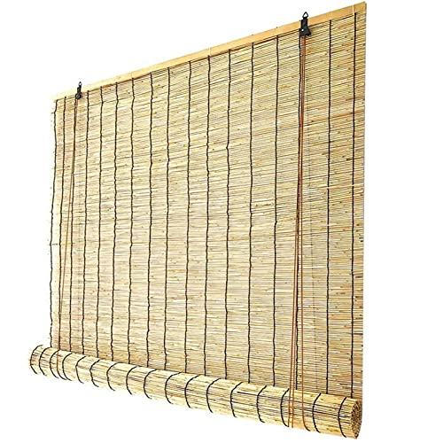 HJRD Estores de Bambú,Estor Enrollable De Bambú Natural,Persianas De Caña Interior,Anticorrosión Prueba De Polvo, Adecuado para Patios, Jardines,Exteriores, Personalizables(Size: 140x220cm/55x87in)