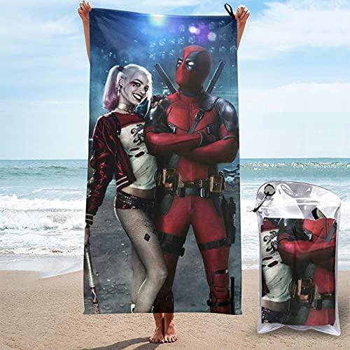 Superhéroe Wade Winston Wilson Agent X De-adpool Avengers 4 Endgame Toallas de playa Toallas de baño para hombres y mujeres adultos niñas y niños juveniles Gran Unisex Impresión 3D 27.5' x 55'