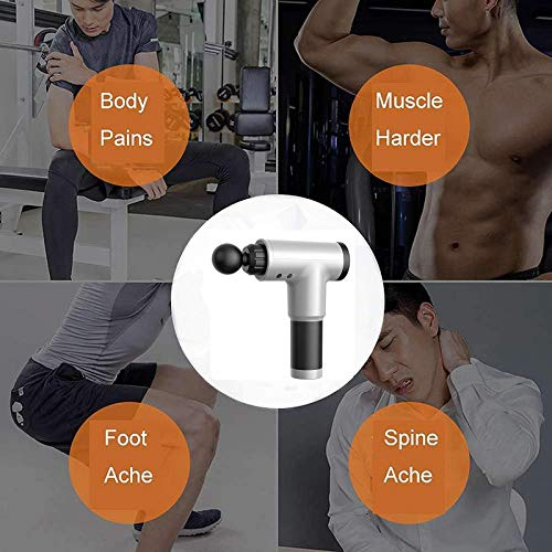 ZRSA Massage Gun Deep Tissue Percussion Muscle Massager for Pain Relief, Handheld Electric Body Massager Sports Drill Portable Super Quiet Brushless Motor, for Muscle Tension Relief