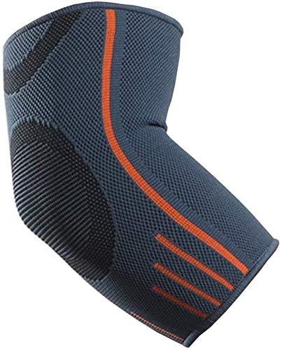 VITTO Ellenbogenbandage - Kompressionsarm für Sehnenentzündung - Arthritis - am besten als Tennisarm Bandage - Golfearm - Gewichtheben (L, Grau, Einzeln)