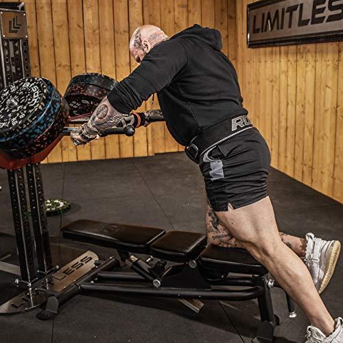 Authentisch RDX Gewichthebergürtel Nubuk Leder Kraft Gewichtheben Strap Rückenstütze DE - 9
