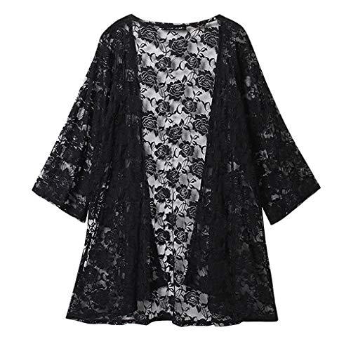 Camisa de punto bordada para mujer de Ausverkauf 2019, para playa, crema solar, para la playa, para disfrazarse, talla grande, tnica