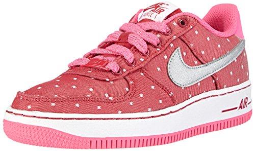 Nike Mädchen Air Force 1 '06 (GS) Low-Top, Rot (Dark Red/Mtllc Slvr-Pnk Pw-White), 38.5 EU