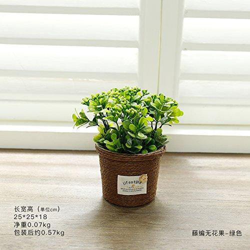 don997gfoh08yewi Kantoor kunstmatige bloem groene plant decoratie TV kast thuis binnenkamer woonkamer kunstmatige plant potdecoratiesRotan vijgen - groen