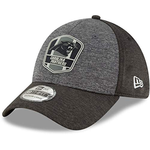 New Era 39Thirty Cap - NFL Black Sideline Carolina Panthers