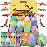 Bath Bombs for Kids with Surprise Inside for Girls Boys - Surprise Colorful Egg 12 Pcs Large Size Gift Set, Handmade Bubble Bath Fizzies Spa Fizz Balls Kit, Birthday Christmas Easter Day Gift