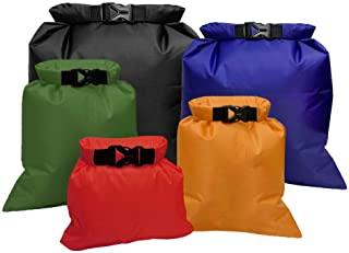 Fantye 5 Pack Multicolour Waterproof Dry Sacks, Lightweight Outdoor Dry Bags Ultimate Dry Bags for Rafting Boating Camping...