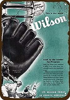 Yilooom 1945 Wilson Sporting Goods Vintage Look Replica Metal Sign 7