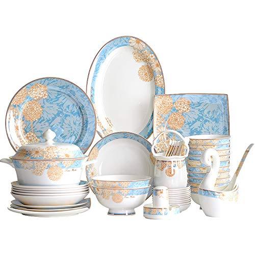 AGLOAT Vajilla para 10 personas, 60 piezas, porcelana, juego de desayuno