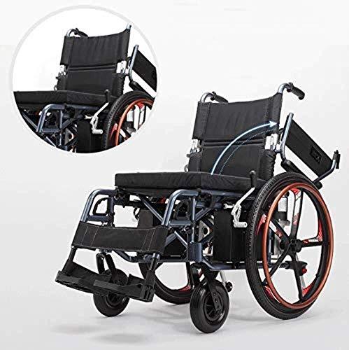 silla de ruedas Portátil ligero silla de ruedas eléctrica plegable más cómodo y transpirable seguridad de los scooters de turismo médico for los discapacitados y las personas mayores, la comodidad neg