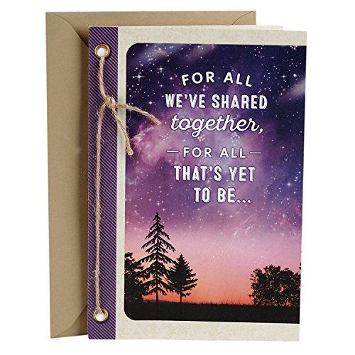 Hallmark Love Card, You Mean the World to Me (Romantic Anniversary Card or Birthday Card)