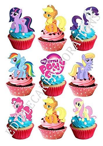 """30x Kuchen-, Cupcakedekoration aus Esspapier mit Motiv """"My Little Pony Ponies"""""""