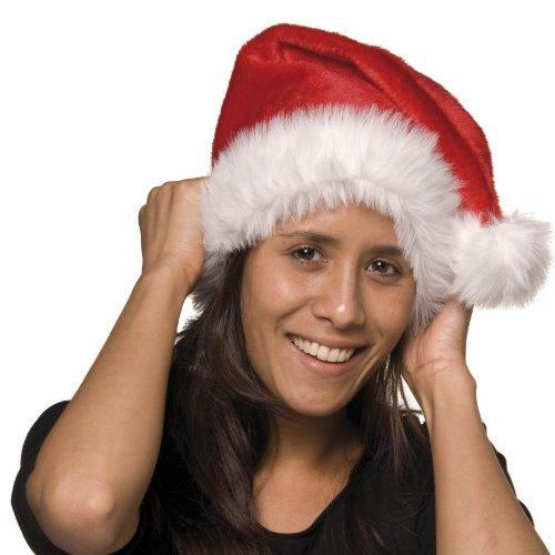 Cappello peluche morbido Natale Babbo Natale cappello berretto pon-pon