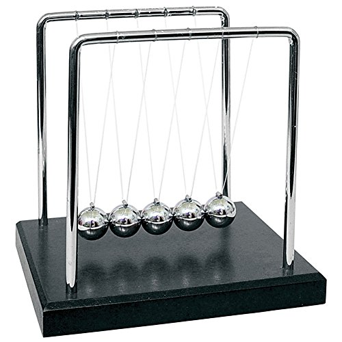 Newton's Cradle Art in Motion, 7 1/4-Inch Balance Balls - Black Wooden Base