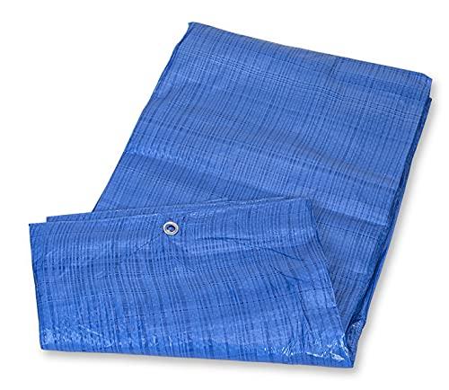 Mivos Lona de 4 x 6 m, color azul, polipropileno y polietileno, impermeable, 60 g/m², resistente al...