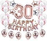 JeVenis 37 Piezas Decoraciones para el 30 cumpleaños Suministros para la fiesta del 30 cumpleaños Adulto
