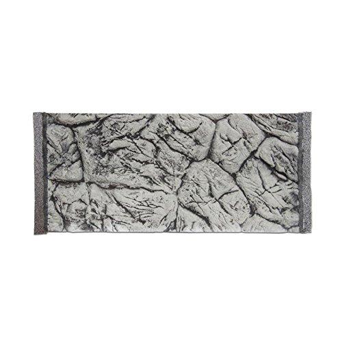 Décor de fond 3D pour aquarium Aspect ardoise Gris 60 x 30 / 57 x 26,5 cm