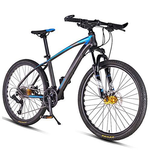 NENGGE 26 Zoll 27 Gang-Schaltung Mountainbike, Jugend Damen Jungen Hardtail MTB, Fahrrad mit Scheibenbremsen, Trekkingrad,Blau