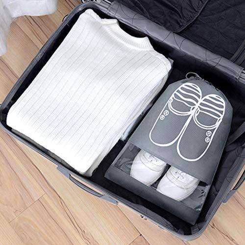 Generic 5 PCS Étanche À Chaussures Sac De Voyage Portable Sac De Rangement De Chaussures Organiser Organiser Fourre-Tout Cordon Sac Organisateur Non-Tissé