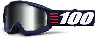 100 Percent ACCURI Goggle Art Deco-Mirror Silver Lens Gafas de protección, Adultos Unisex, Azul-Cristal Oscuro, Mediano