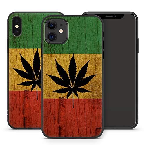 Handyhülle Weed für iPhone Apple Silikon MMM Berlin Hülle Gras Marihuana Cannabis Hanf, Kompatibel mit Handy:Apple iPhone 12 Pro Max, Hüllendesign:Design 5 | Silikon Schwarz