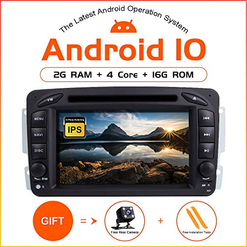 ZLTOOPAI Android 9.0 Autoradio voor Mercedes Benz W209 / W203 / W168 / W163 / W463 / Viano / W639 / Vito/Vaneo 1998-2006 Audio GPS Navi-ondersteuning volledige RCA-uitgang WiFi SWC